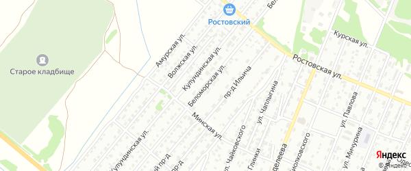 Беломорская улица на карте Рубцовска с номерами домов