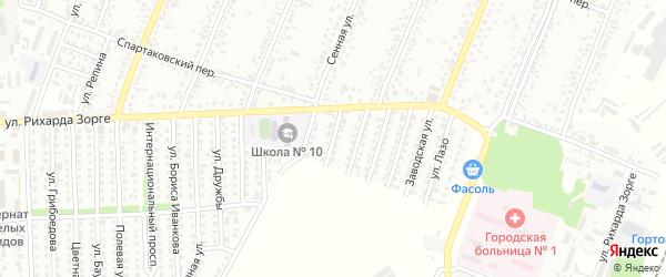 Ударная улица на карте Рубцовска с номерами домов