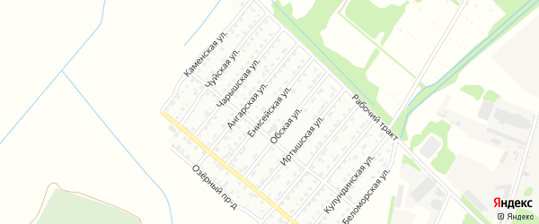 Енисейская улица на карте Рубцовска с номерами домов