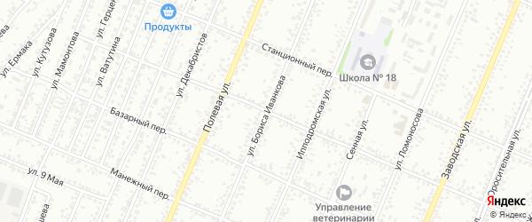 Песочный переулок на карте Рубцовска с номерами домов