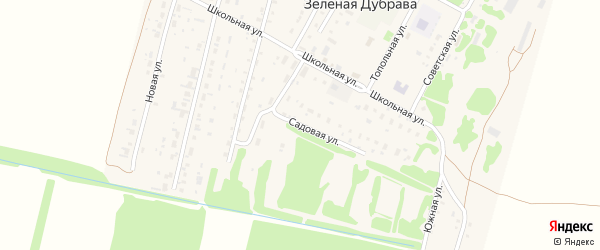 Садовая улица на карте поселка Зеленой Дубравы с номерами домов