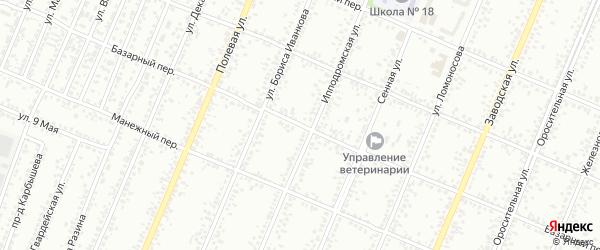 Базарный переулок на карте Рубцовска с номерами домов