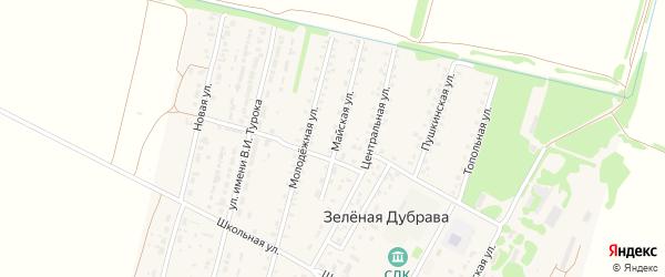 Майская улица на карте садового некоммерческого товарищества N 16 с номерами домов
