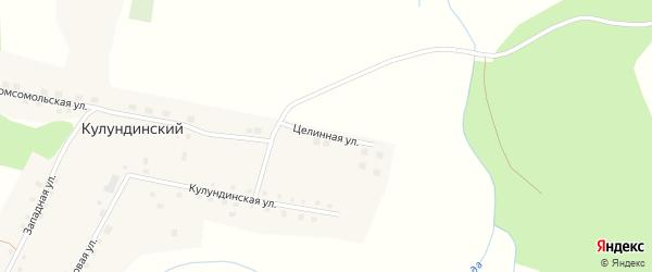 Целинная улица на карте Кулундинского поселка с номерами домов