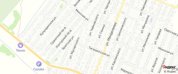 Улица Чайковского на карте Рубцовска с номерами домов