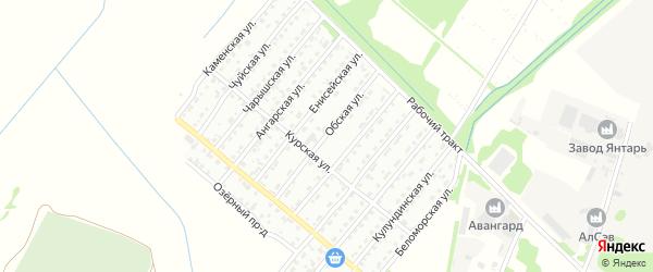 Обская улица на карте Рубцовска с номерами домов