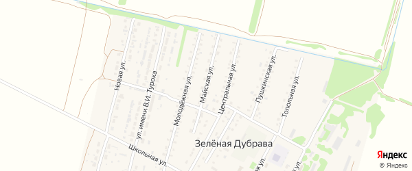 Майская улица на карте поселка Зеленой Дубравы с номерами домов
