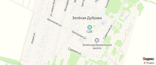 Школьная улица на карте садового некоммерческого товарищества N 15 с номерами домов