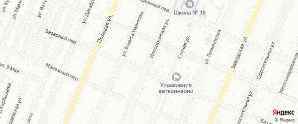 Ипподромская улица на карте Рубцовска с номерами домов