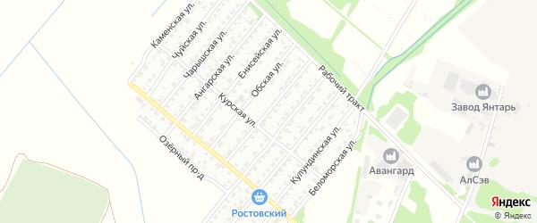 Иртышская улица на карте Рубцовска с номерами домов