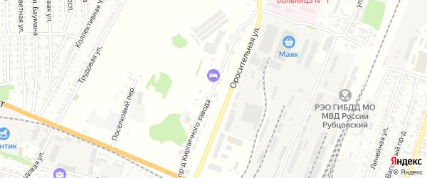 Проезд Кирпичного завода на карте Рубцовска с номерами домов