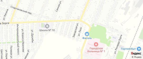 Улица Щорса на карте Рубцовска с номерами домов