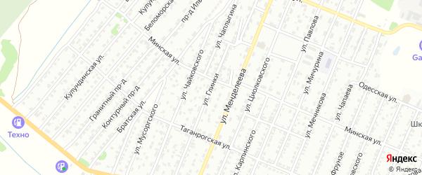Улица Глинки на карте Рубцовска с номерами домов