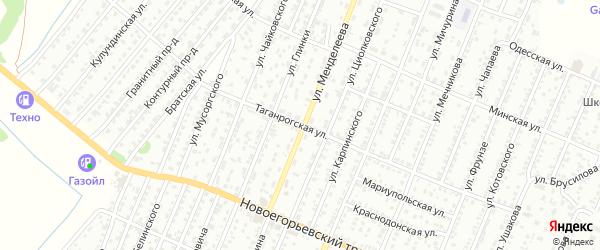 Таганрогская улица на карте Рубцовска с номерами домов