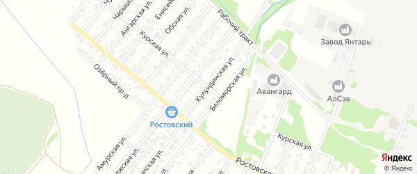 Курская улица на карте Рубцовска с номерами домов
