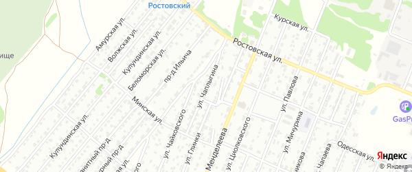 Улица Чаплыгина на карте Рубцовска с номерами домов