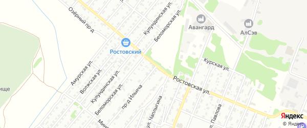 Ростовская улица на карте Рубцовска с номерами домов
