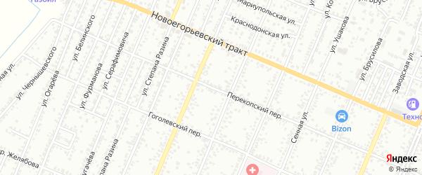Перекопский переулок на карте Рубцовска с номерами домов