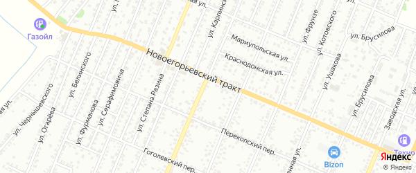 Полевая улица на карте садового некоммерческого товарищества N 3 с номерами домов