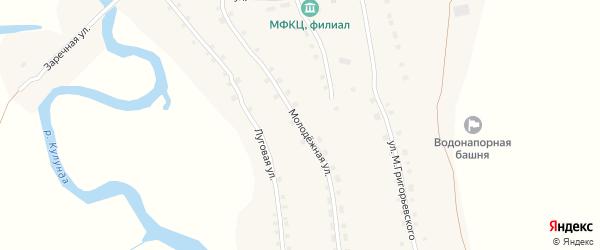 Молодёжная улица на карте села Андроново с номерами домов