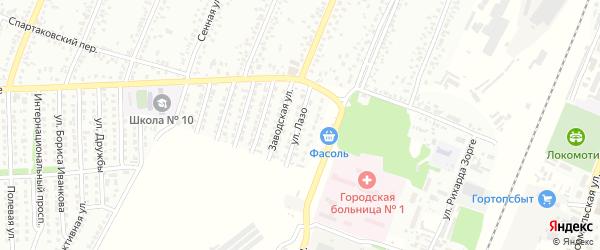 Улица Сергея Блынского на карте Рубцовска с номерами домов