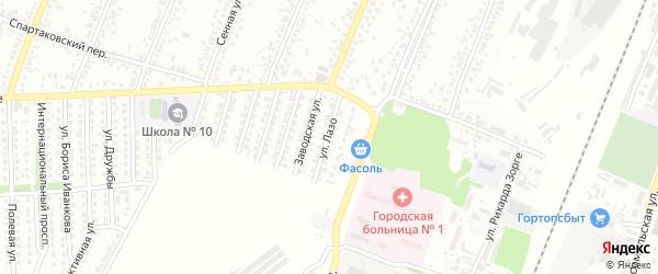 Улица Лазо на карте Рубцовска с номерами домов