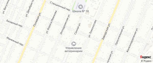 Сенная улица на карте Рубцовска с номерами домов