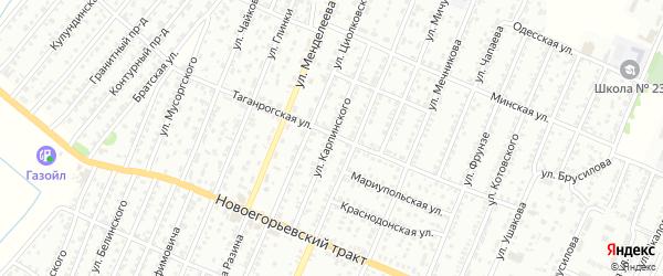 Улица Карпинского на карте Рубцовска с номерами домов