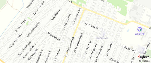 Улица Менделеева на карте Рубцовска с номерами домов