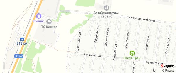 Васильковая улица на карте садового некоммерческого товарищества N 14 с номерами домов