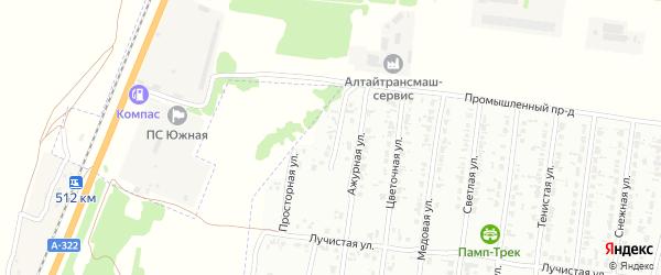 Васильковая улица на карте садового некоммерческого товарищества N 3 с номерами домов