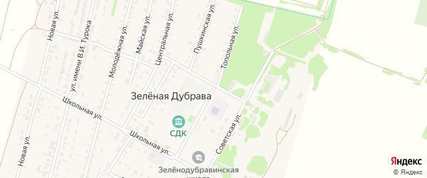 Топольная улица на карте поселка Зеленой Дубравы с номерами домов