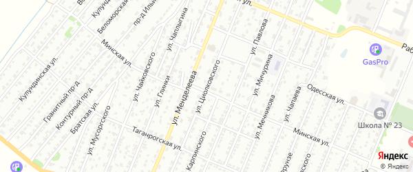 Улица Циолковского на карте Рубцовска с номерами домов