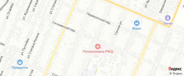 Гоголевский переулок на карте Рубцовска с номерами домов