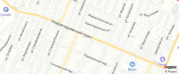 Новоегорьевский тракт на карте Рубцовска с номерами домов