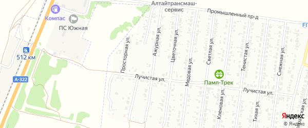 Ажурная улица на карте Рубцовска с номерами домов