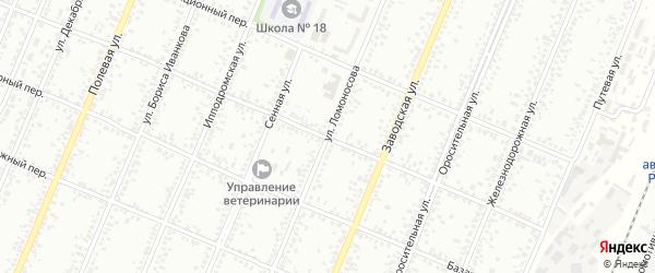 Улица Ломоносова на карте Рубцовска с номерами домов