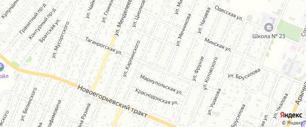 Улица Мичурина на карте садового некоммерческого товарищества N 1 с номерами домов