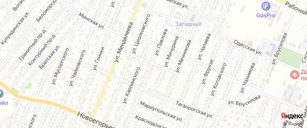 Керченский переулок на карте Рубцовска с номерами домов