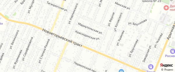 Краснодонская улица на карте Рубцовска с номерами домов
