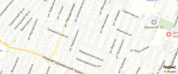 Улица Мичурина на карте садового некоммерческого товарищества N 7 с номерами домов