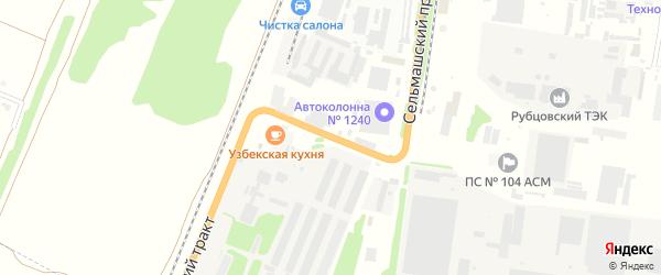 Сельмашский проезд на карте Рубцовска с номерами домов