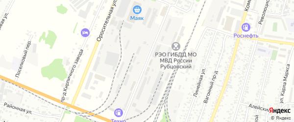 Кооперативный проезд на карте Рубцовска с номерами домов