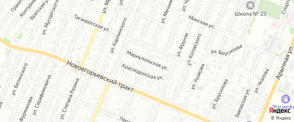 Мариупольская улица на карте Рубцовска с номерами домов
