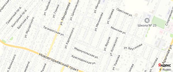 Улица Мичурина на карте садового некоммерческого товарищества N 8 с номерами домов