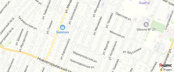 Улица Мичурина на карте садового некоммерческого товарищества N 14 с номерами домов