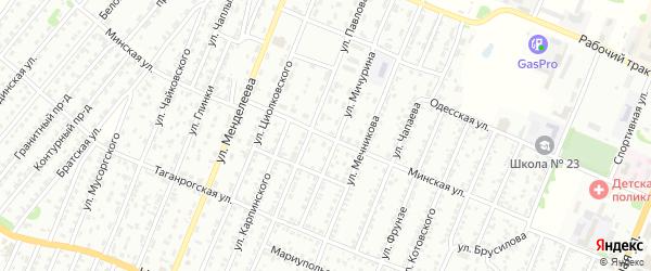 Минская улица на карте Рубцовска с номерами домов