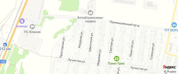 Цветочная улица на карте садового некоммерческого товарищества N 12 с номерами домов