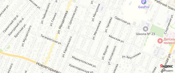Улица Мичурина на карте садового некоммерческого товарищества N 18 с номерами домов