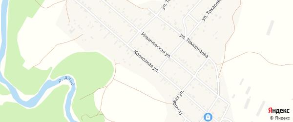 Колхозная улица на карте села Локтя с номерами домов